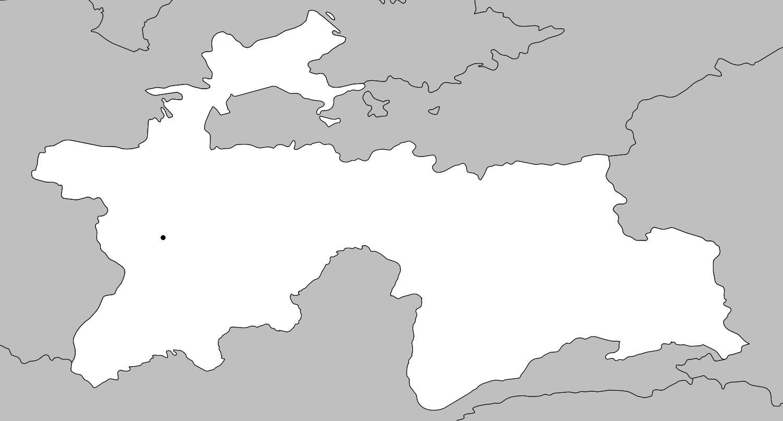 Carte vierge du Tadjikistan