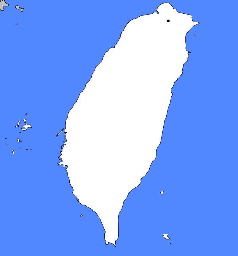 Carte vierge de Taïwan