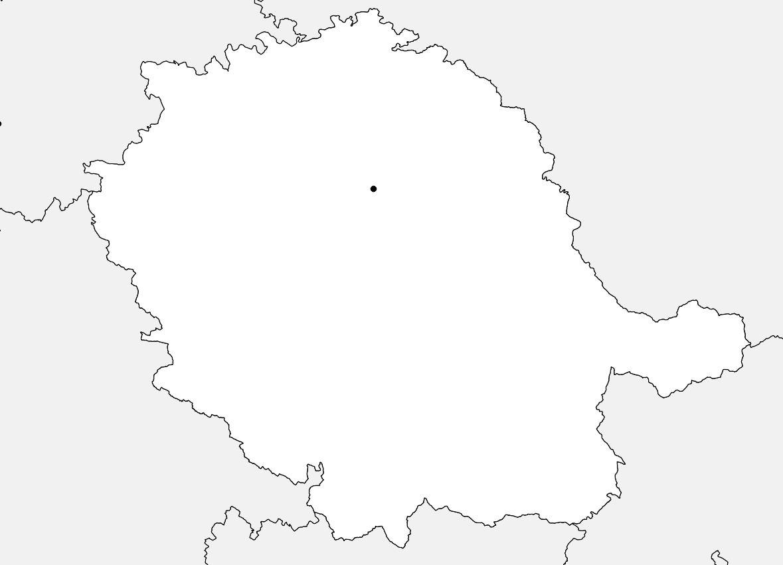 Carte vierge du Tarn
