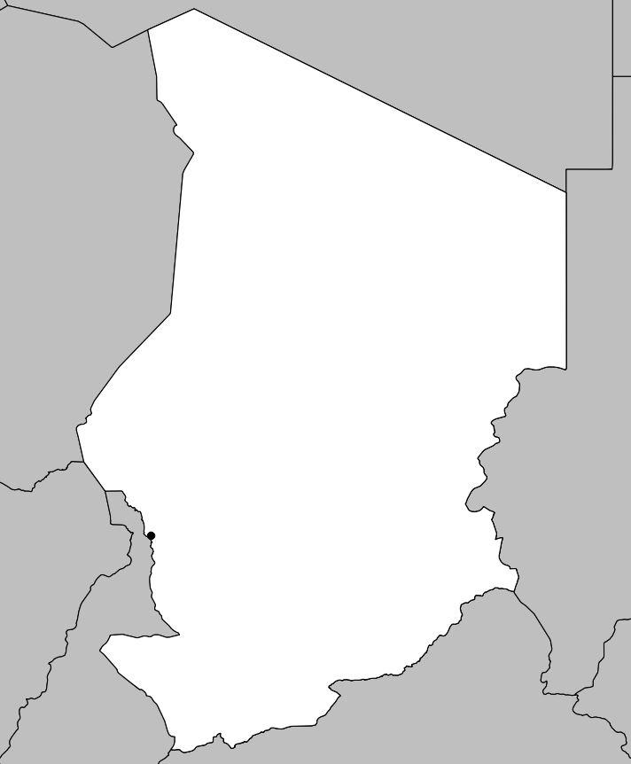 Carte vierge du Tchad
