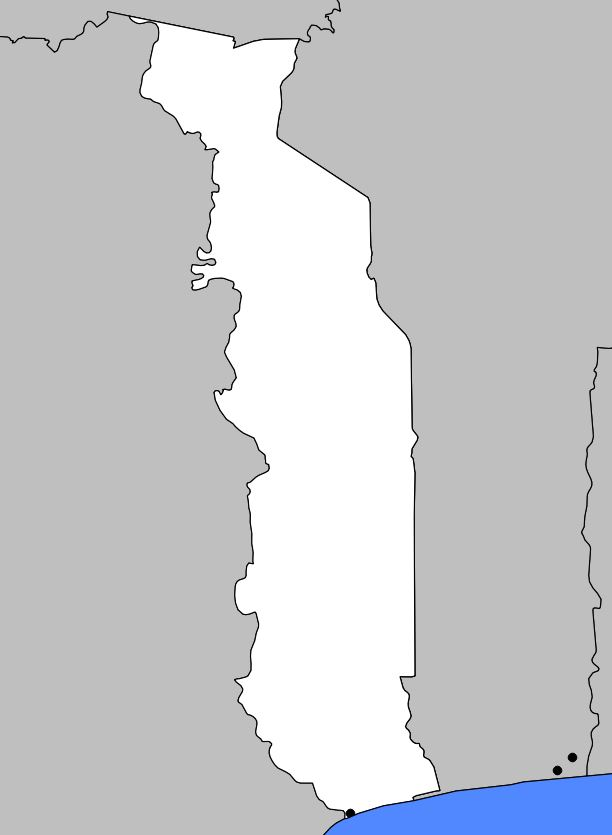 Carte vierge du Togo