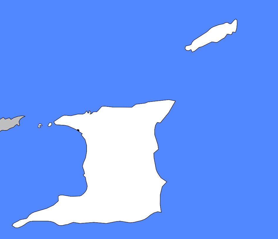 Carte vierge de Trinité-et-Tobago