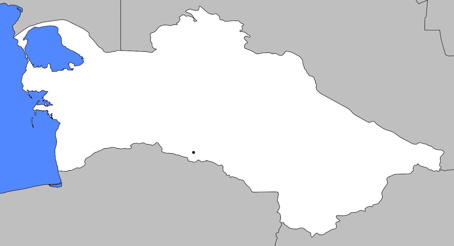 Carte vierge du Turkménistan