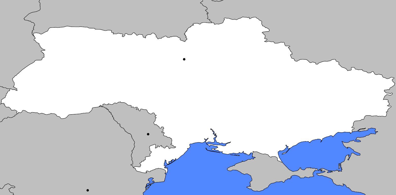 Carte vierge de l'Ukraine