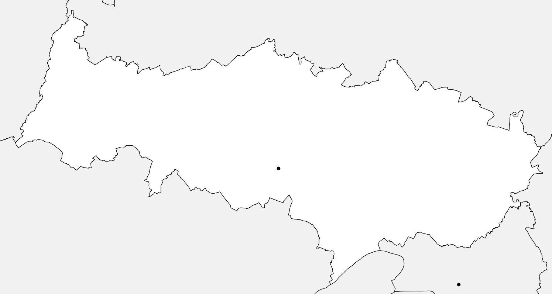Carte vierge du Val-d'Oise