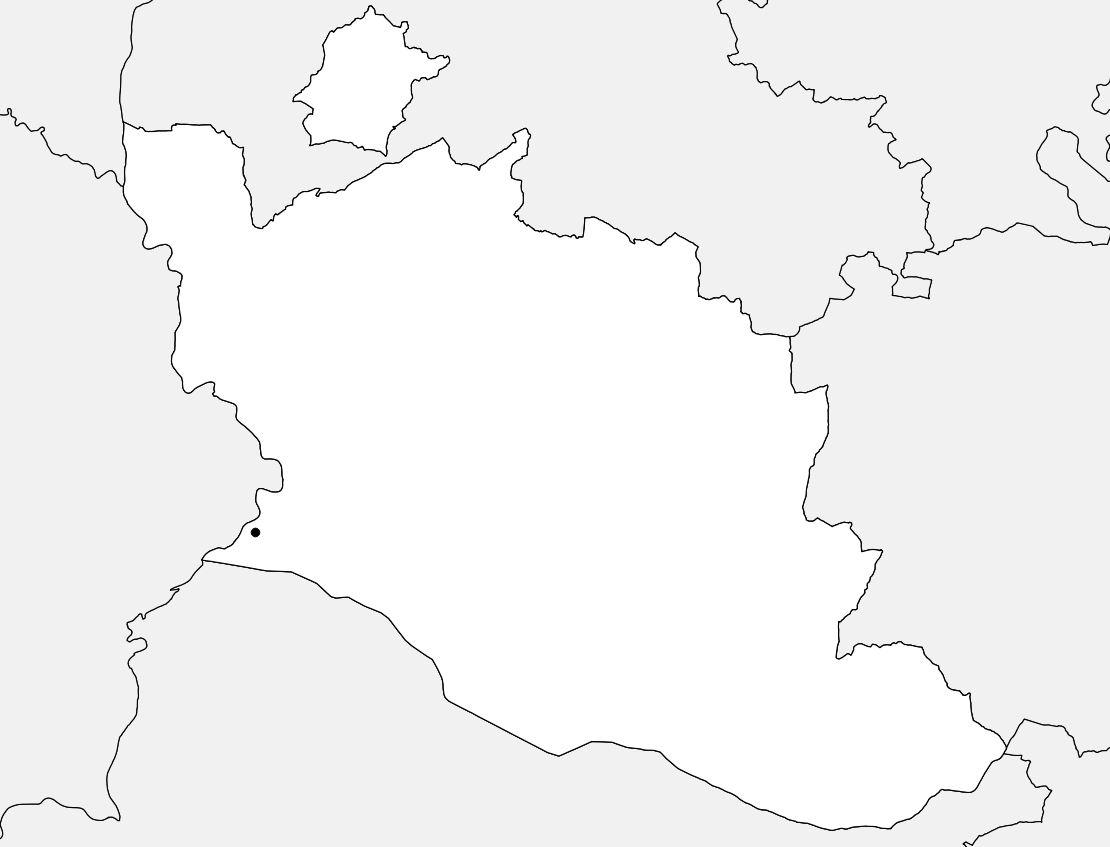 Carte vierge du Vaucluse