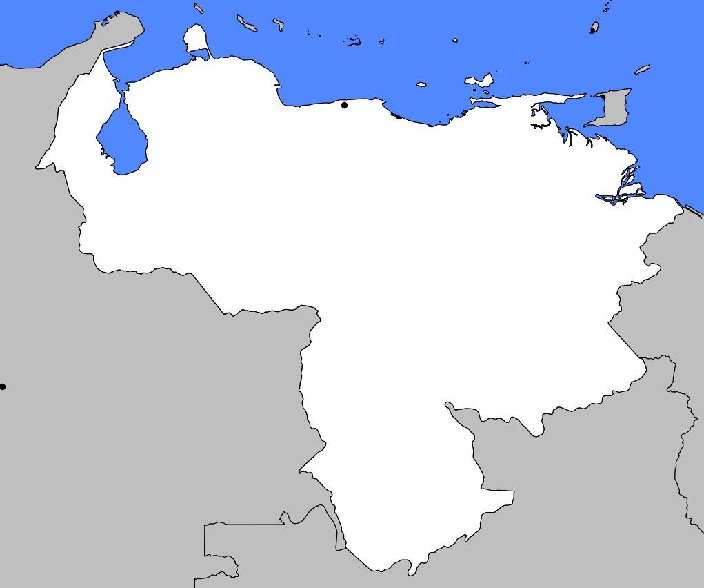 Carte vierge du Venezuela