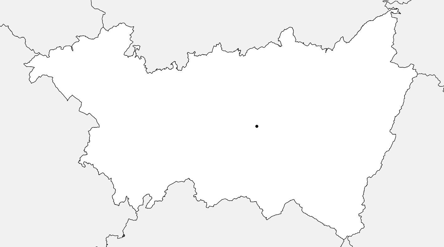 Carte vierge des Vosges
