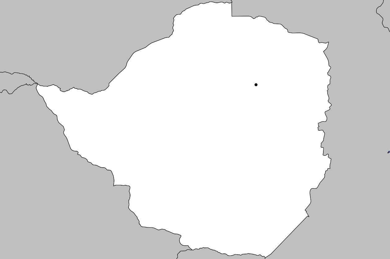 Carte vierge du Zimbabwe
