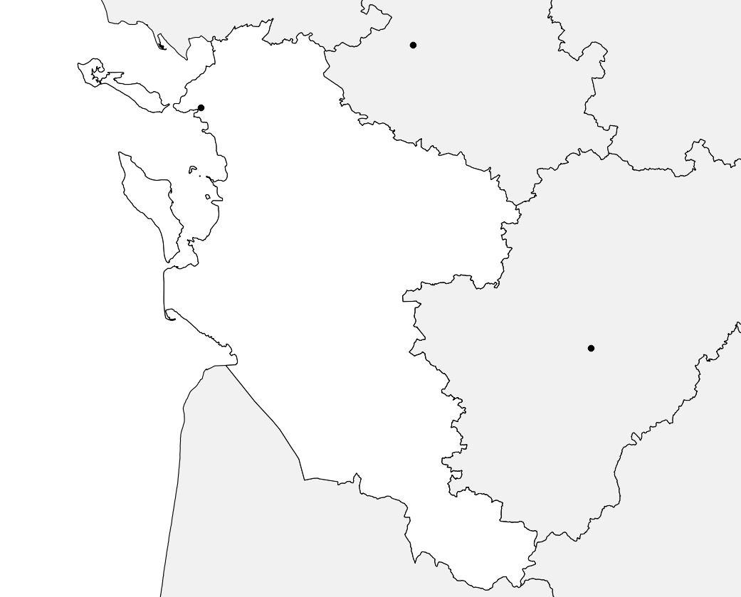 Carte de la Charente-Maritime vierge