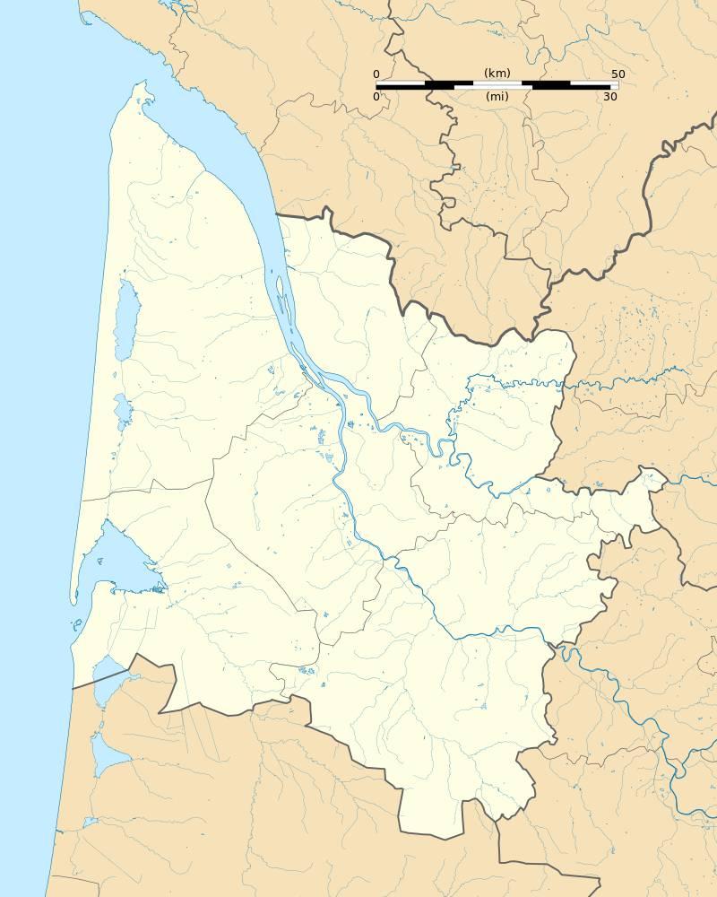Carte de la Gironde vierge