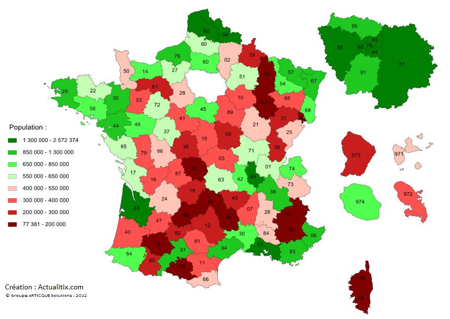 Population par département