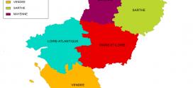 Shapefile région Pays de la Loire