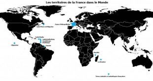 Carte des territoires de la France dans le monde