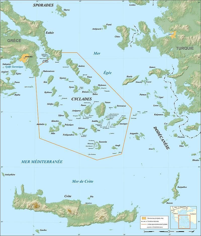 Carte pour découvrir les Cyclades