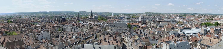 Vue panoramique de Dijon