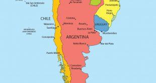 Carte de l'Argentine