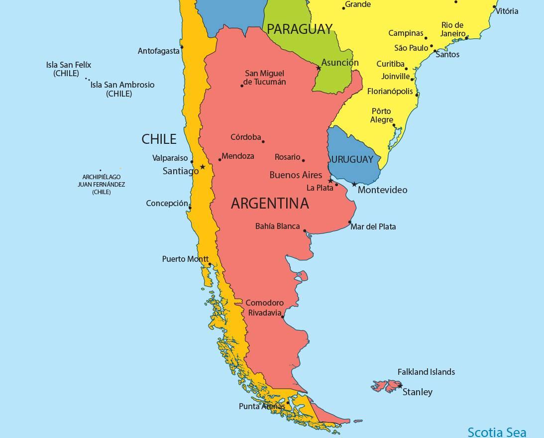 Carte Amerique Latine Avec Fleuves.Carte De L Argentine Images Et Cartes De L Argentine En Amerique