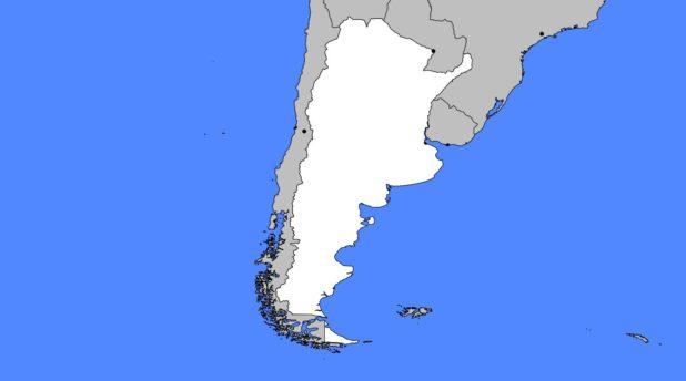 Carte vierge de l'Argentine