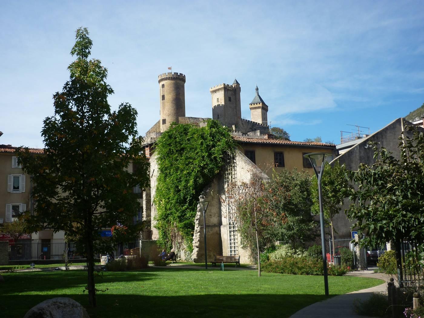 Foix - Jardin et Château