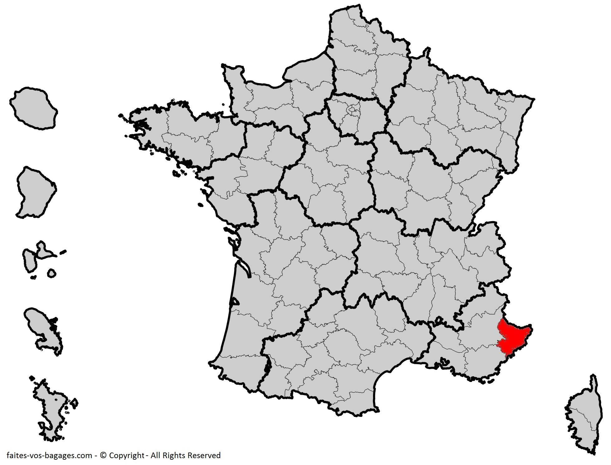Où se trouve les Alpes-Maritime ? Département 06