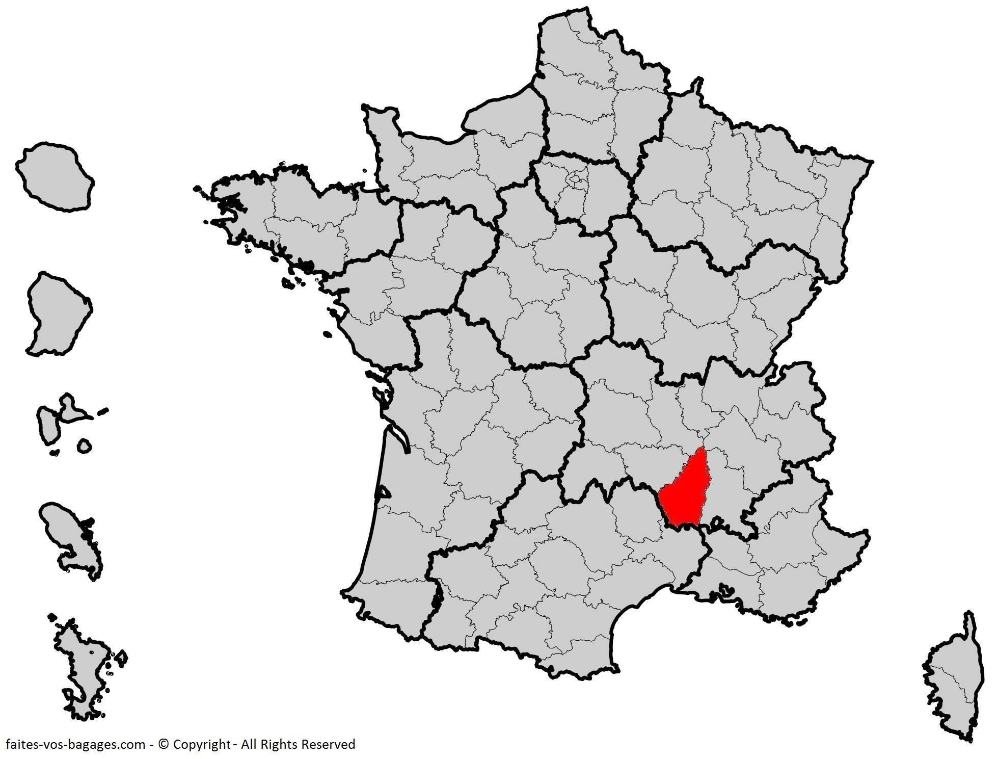 Où se trouve l'Ardèche ? Département 07