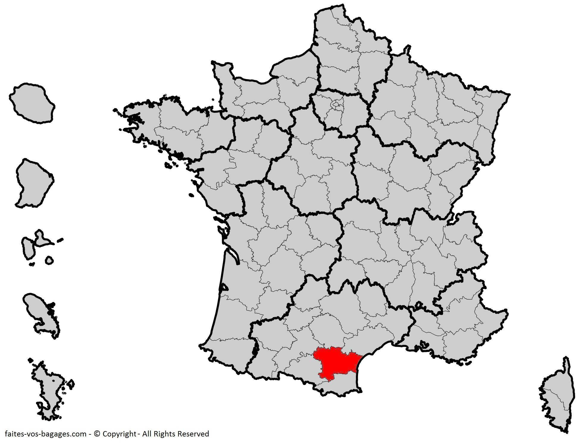 Où se trouve l'Aude en France ? Département 11