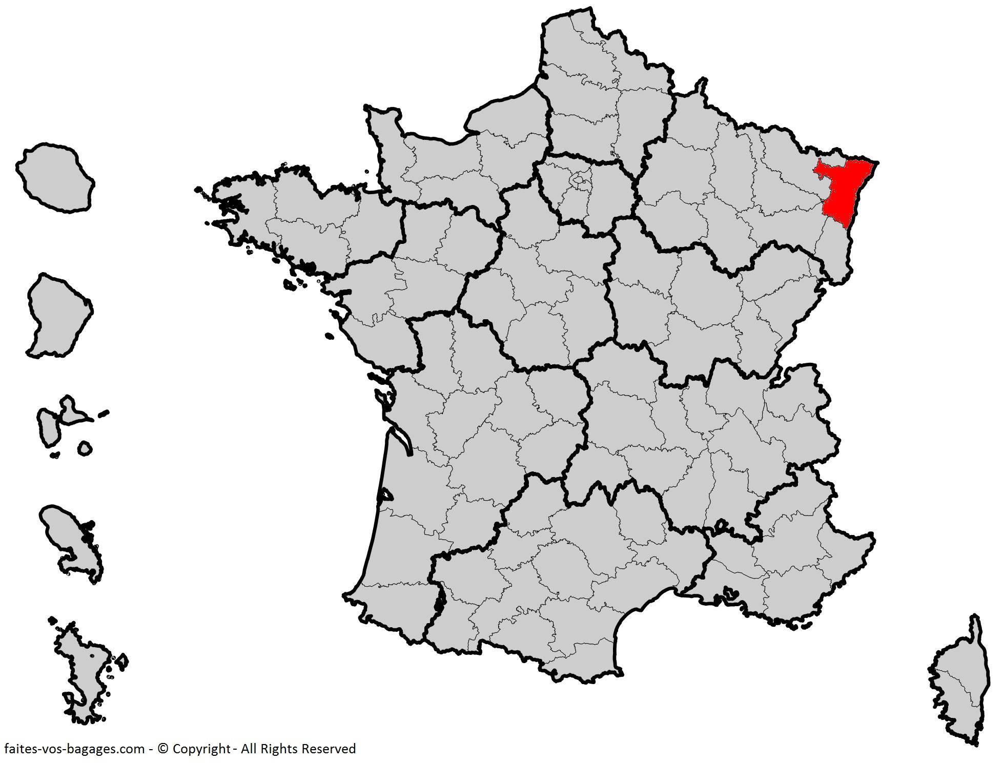 Où se trouve le Bas-Rhin ? Département 67