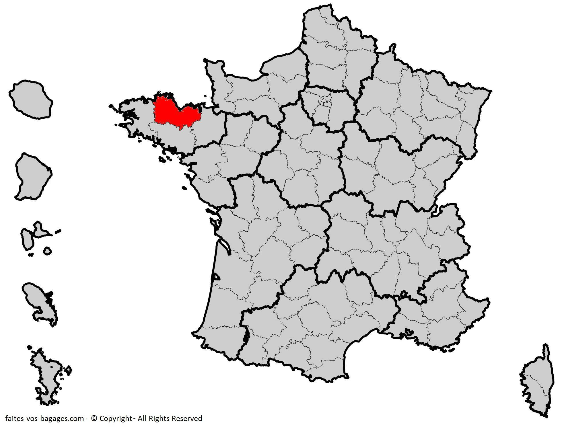 Où se trouvent les Côtes-d'Armor ? Département 22