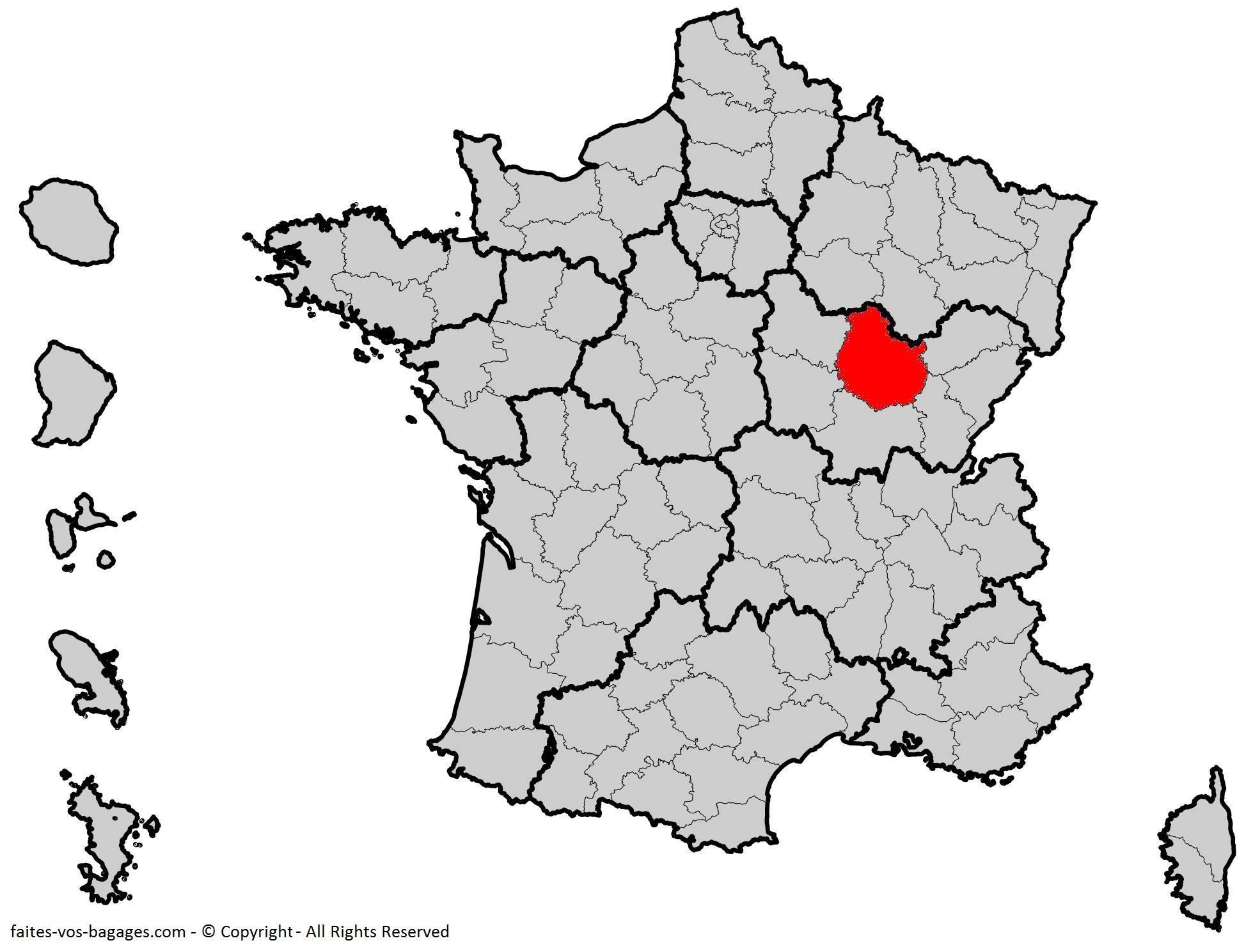 Où se trouve la Côte d'Or en France ? Département 21