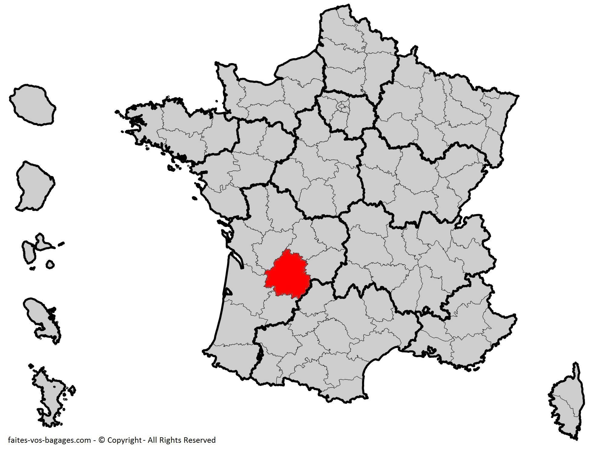 Où se trouve la Dordogne ? Département 24