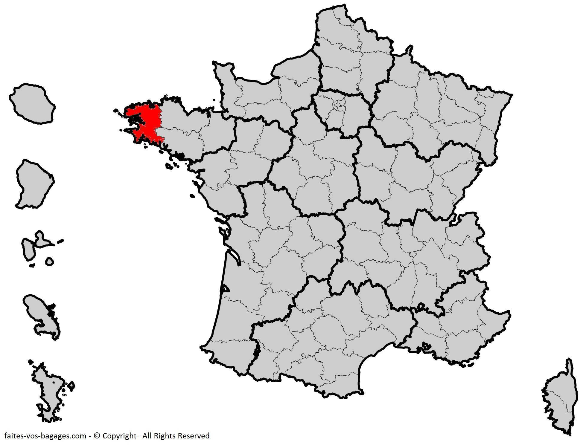 Où se trouve le Finistère ? Département 29