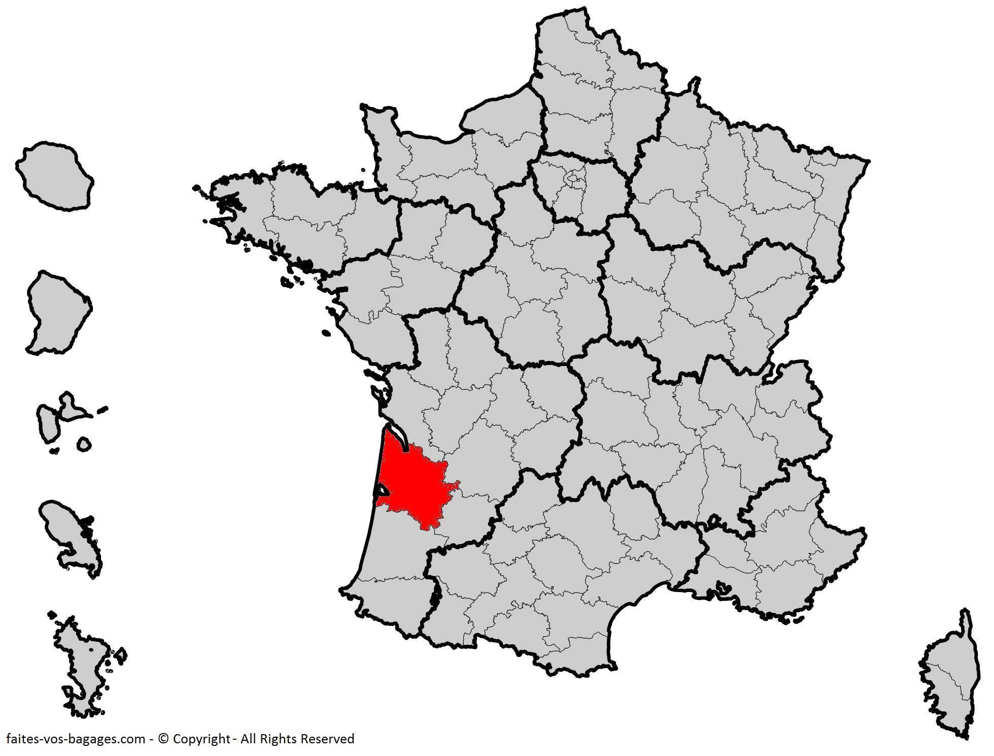 Où se trouve la Gironde ? Département 33