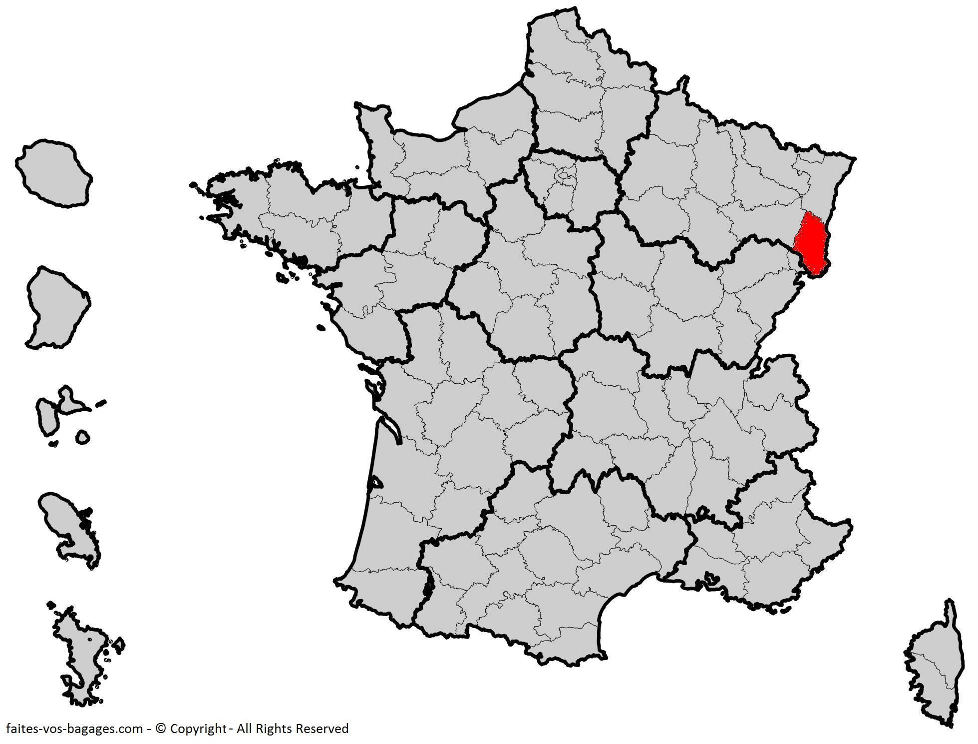 Où se trouve le Haut-Rhin en France ? Département 68