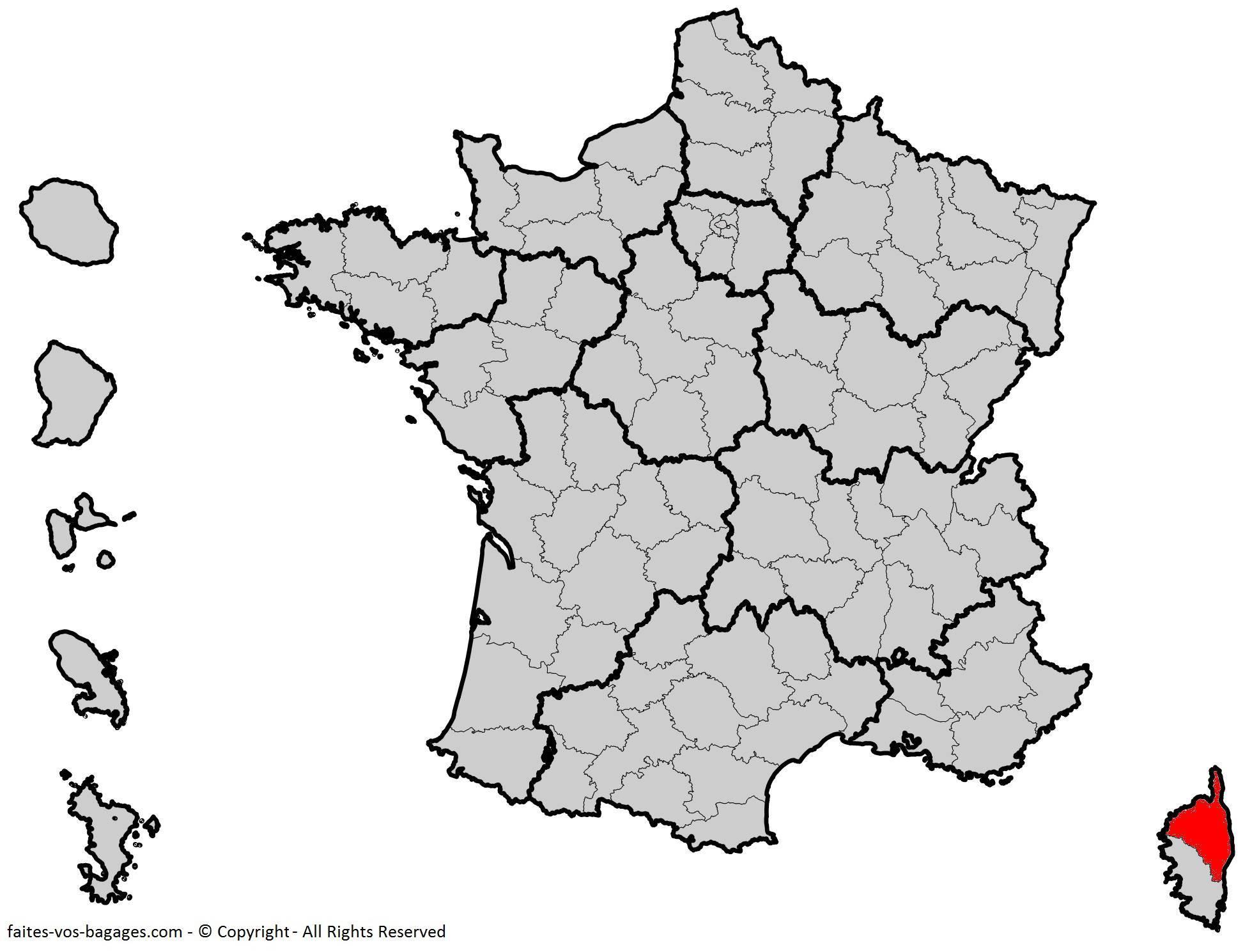 Où se trouve la Haute-Corse ? Département 2B