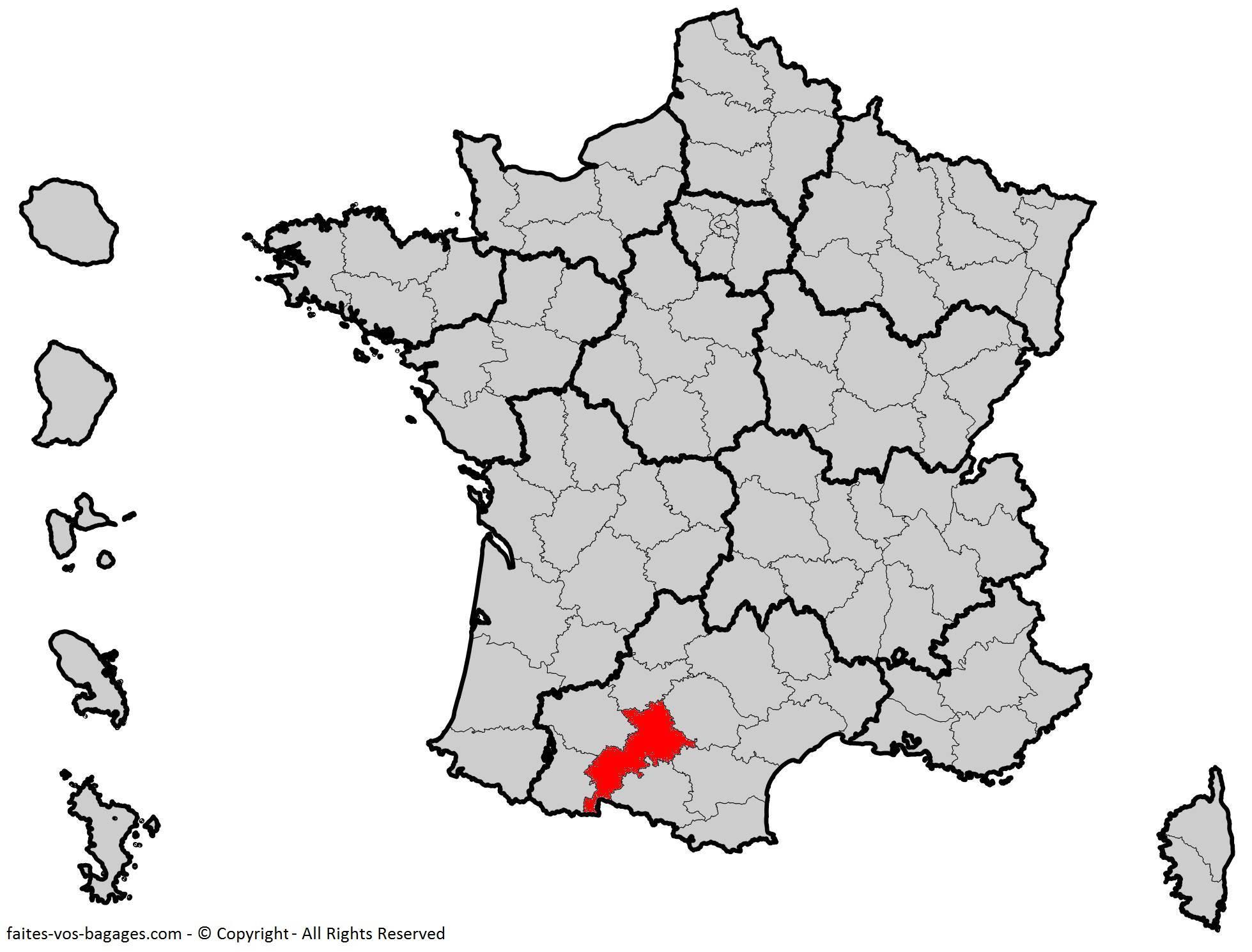 Où se trouve la Haute-Garonne ? Département 31