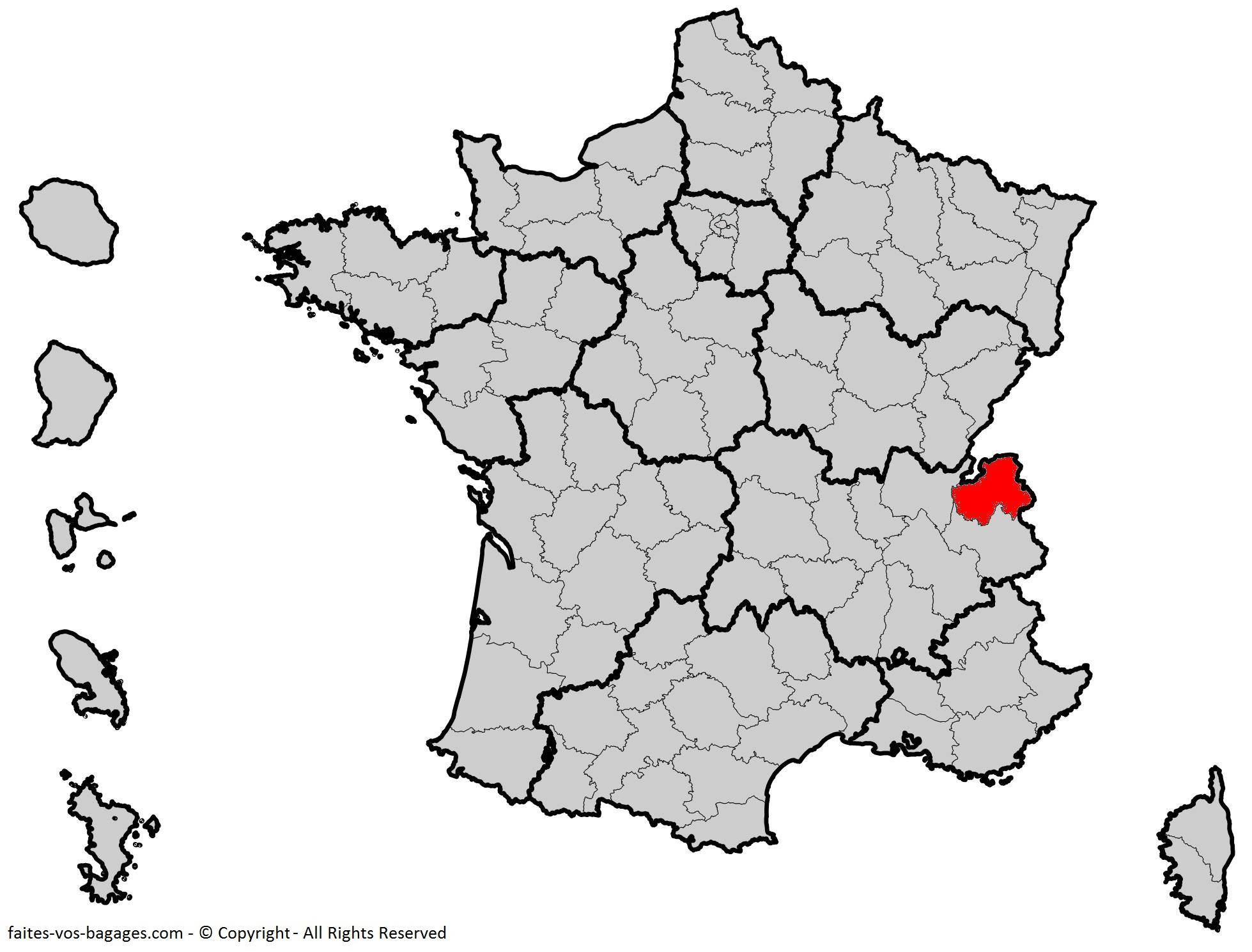 Où se trouve la Haute-Savoie en France ? Département 74