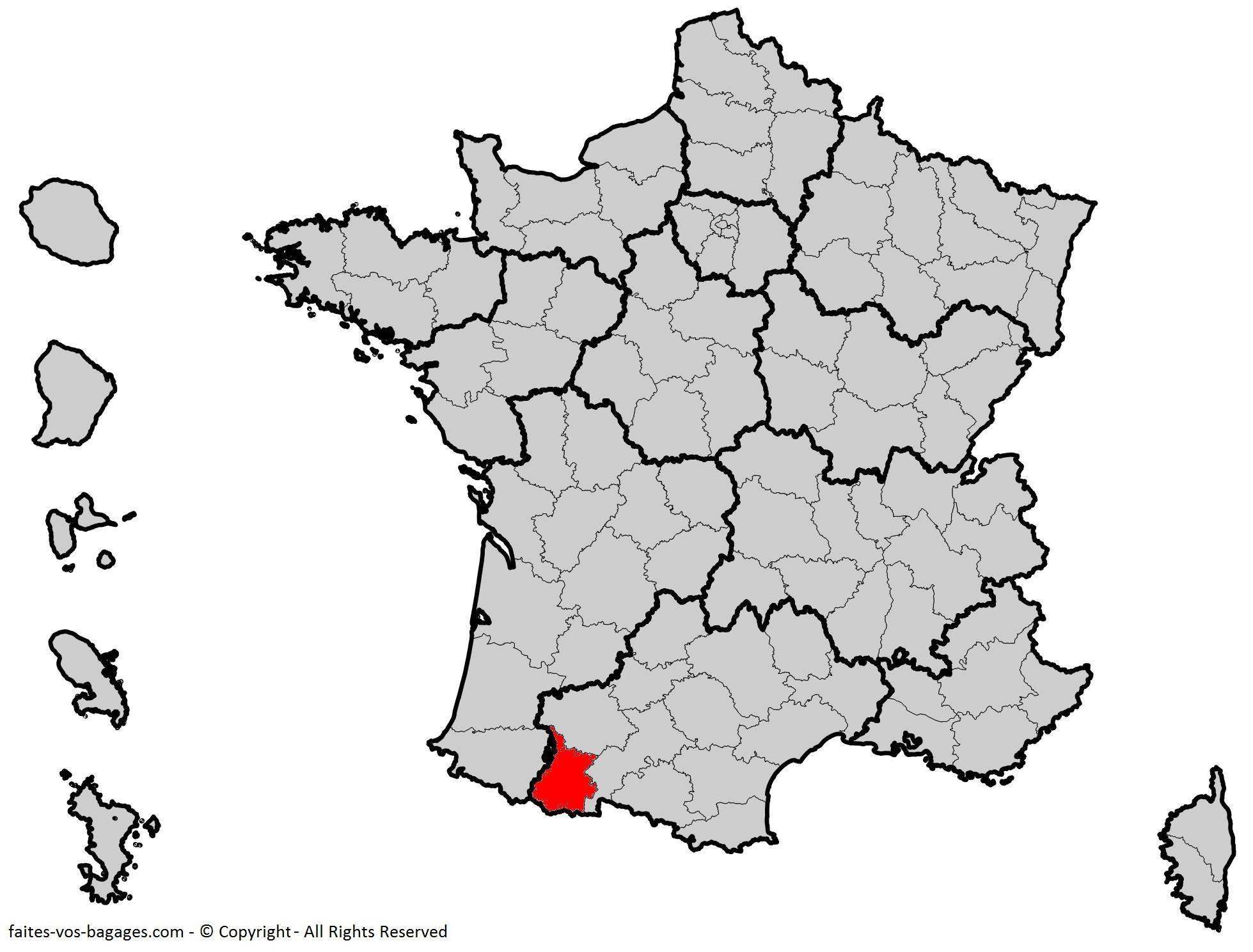 Où se trouve les Hautes-Pyrénées en France ? Département 65