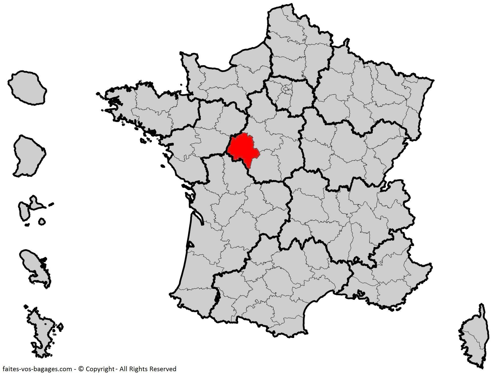 Où se trouve l'Indre-et-Loire en France ? Département 37