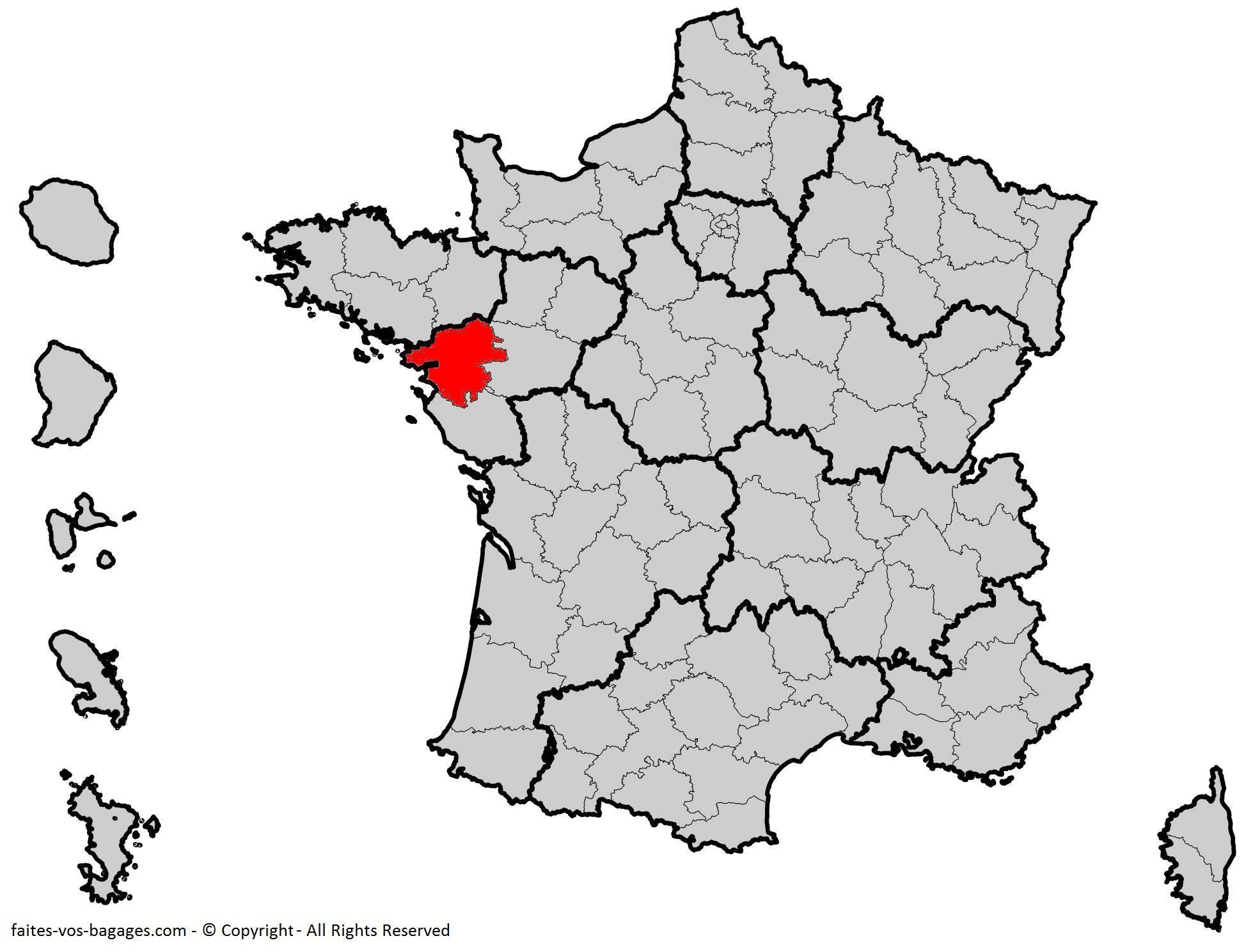 Où se trouve la Loire-Atlantique? Département 44