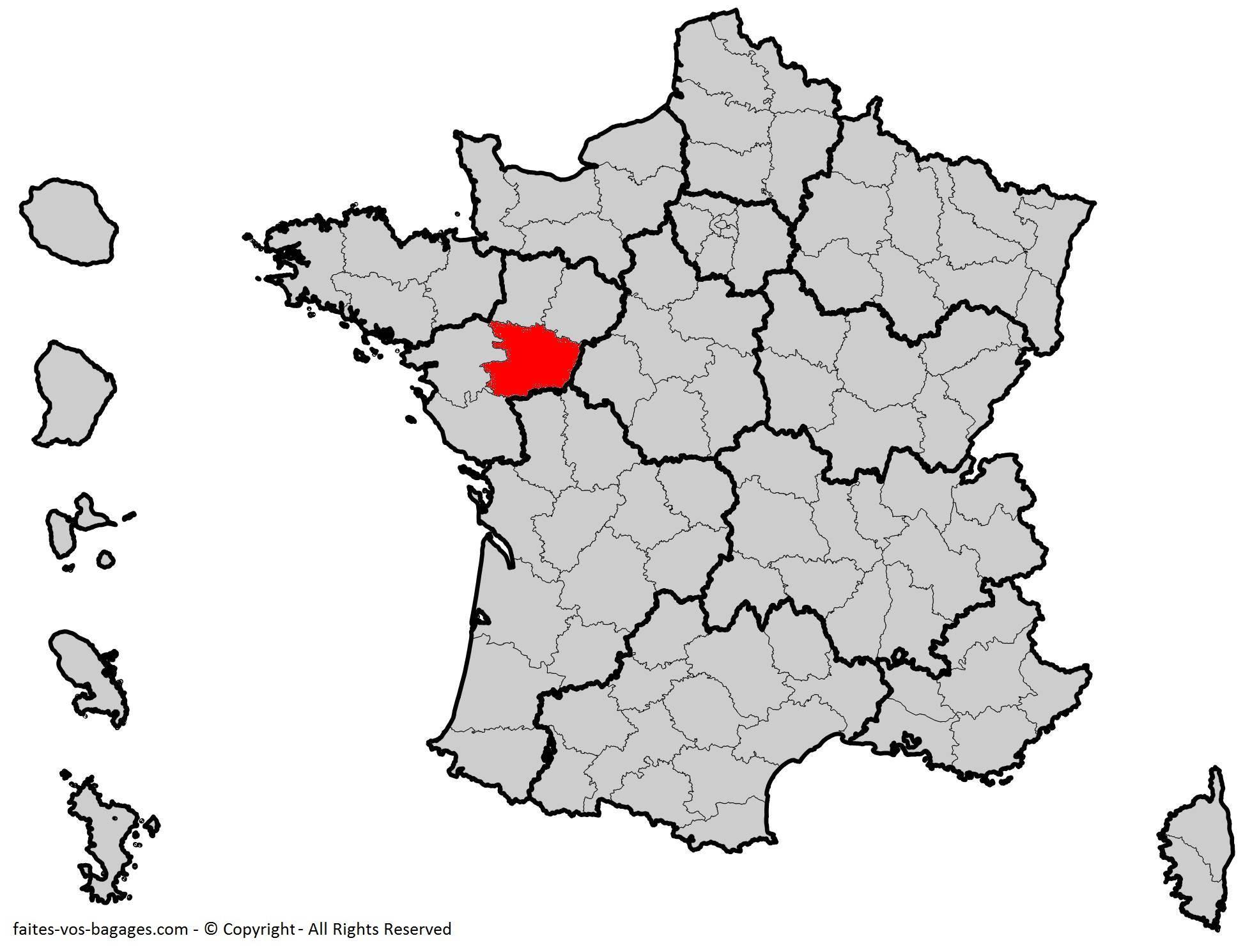 Où se trouve le Maine-et-Loire ? Département 49
