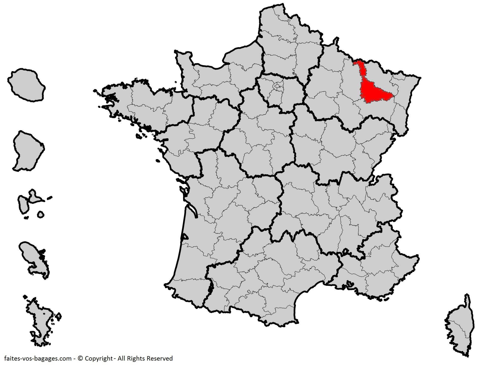 Où se trouve la Meurthe-et-Moselle ? Département 54