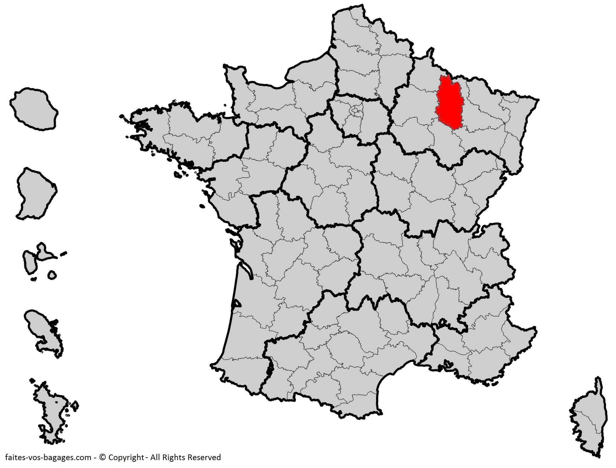 Meuse carte de France