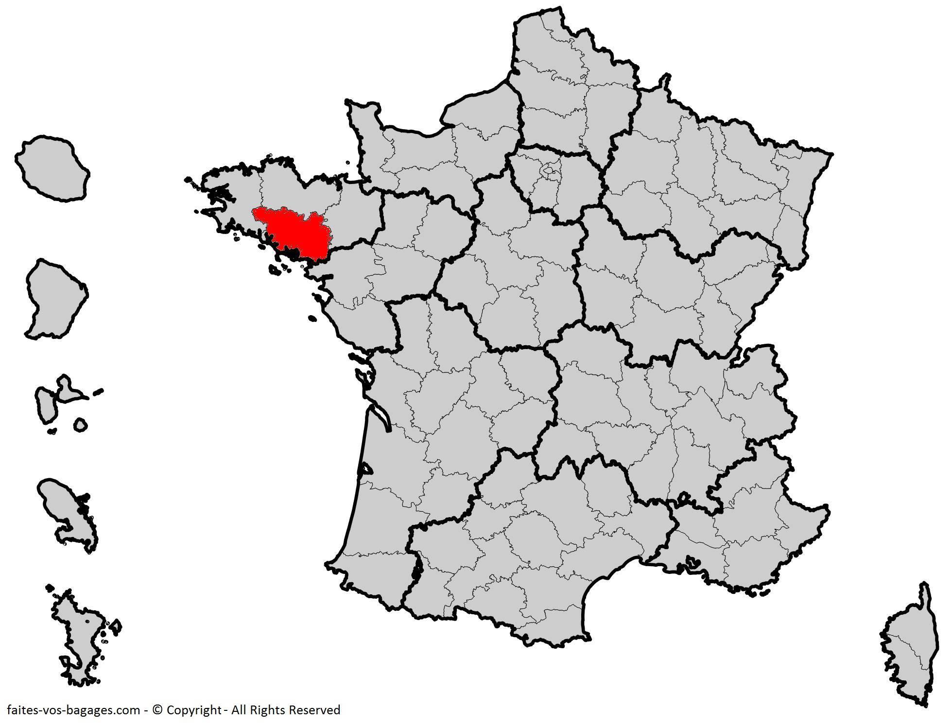 Où se trouve le Morbihan en France ? Département 56