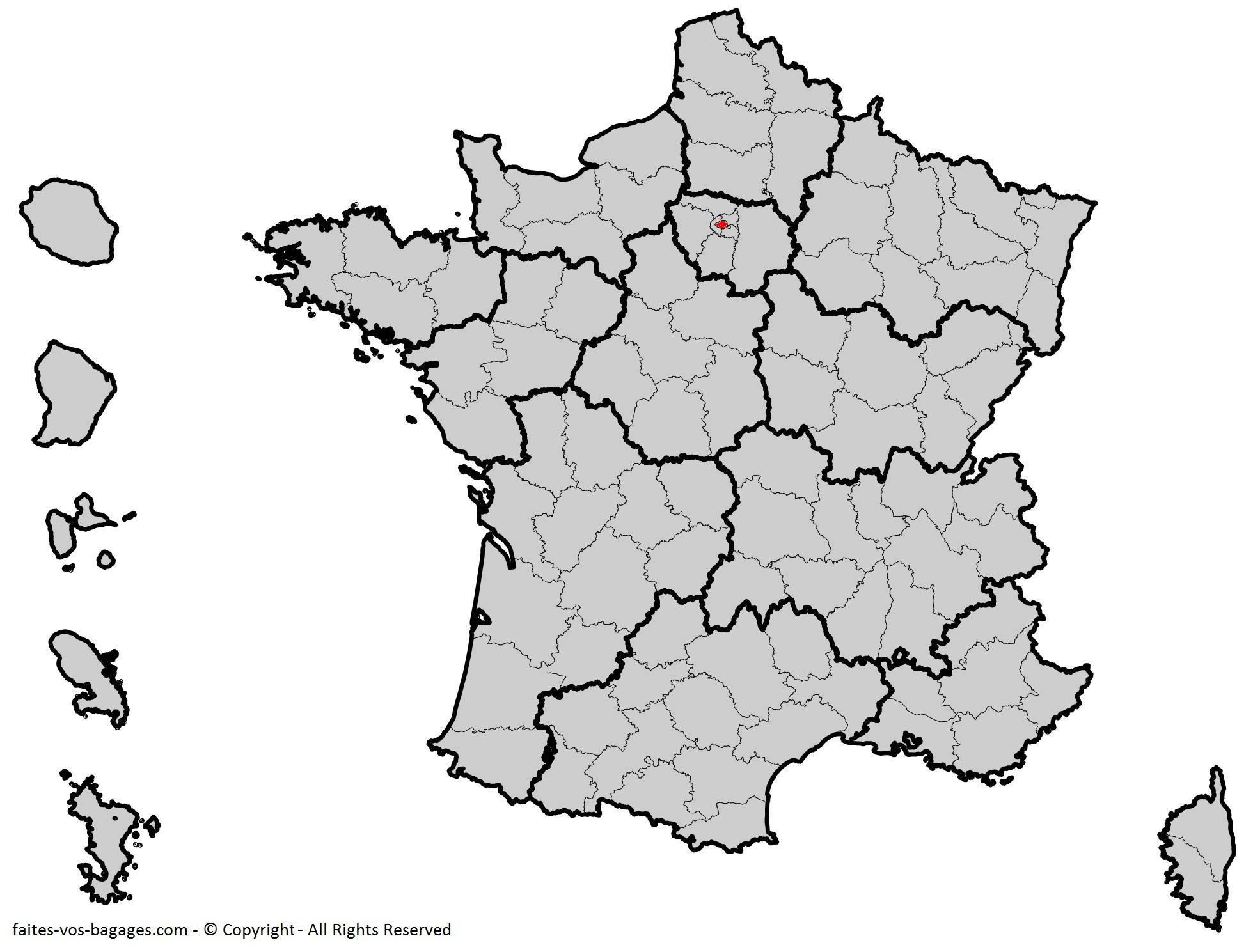 Où se trouve Paris ? Département 75