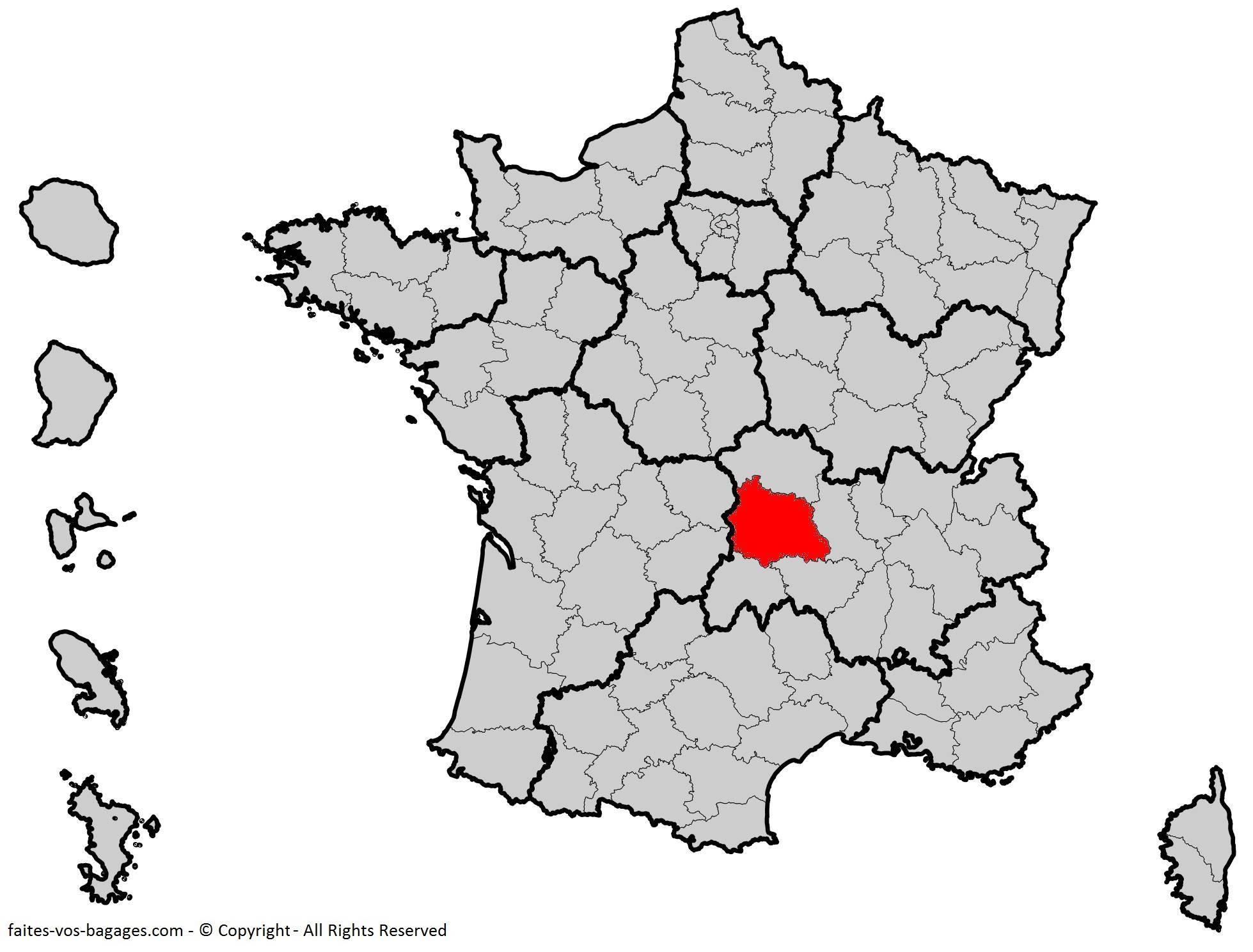 Où se trouve le Puy-de-Dôme en France ? Département 63