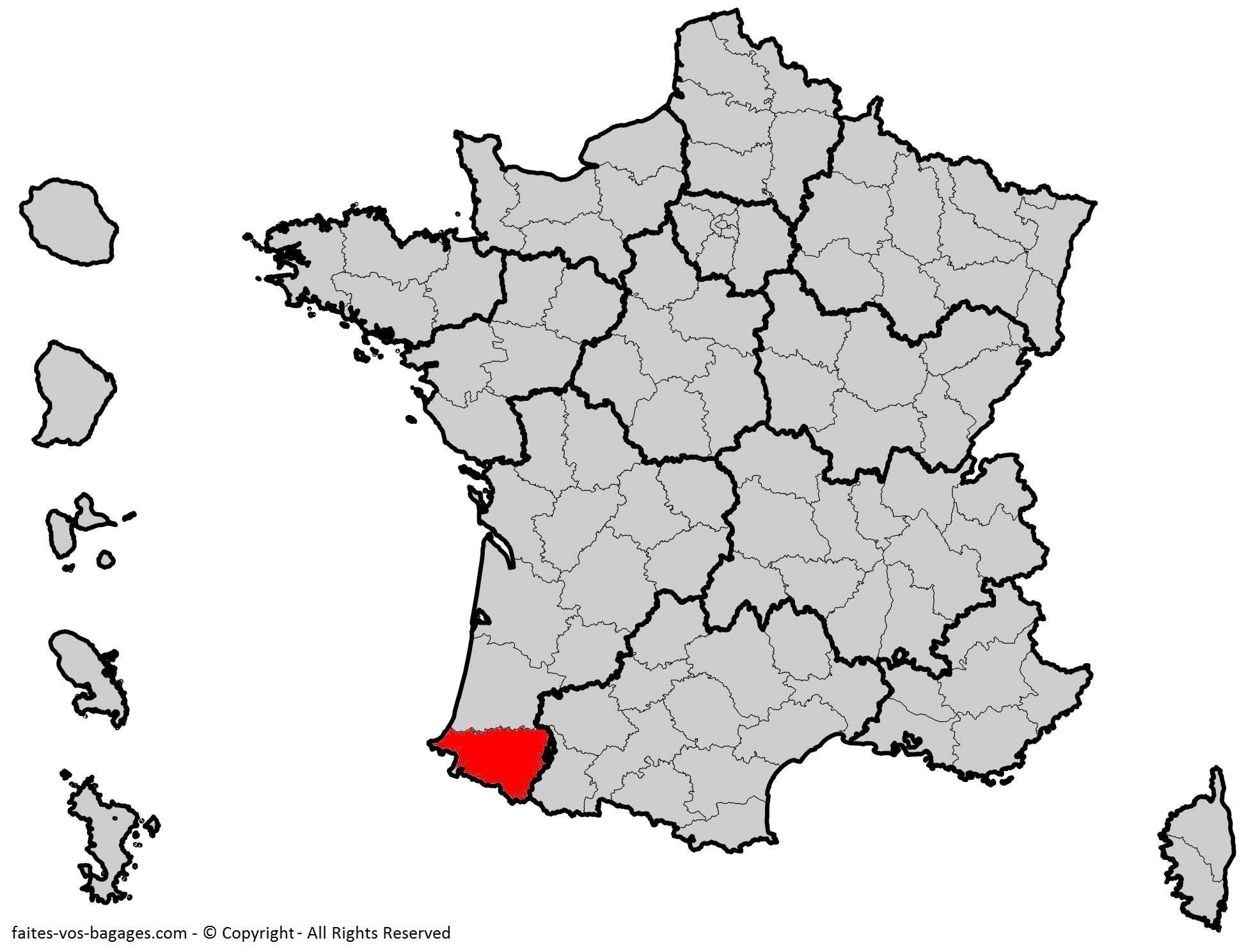 Où se trouve les Pyrénées-Atlantiques en France ? Département 64
