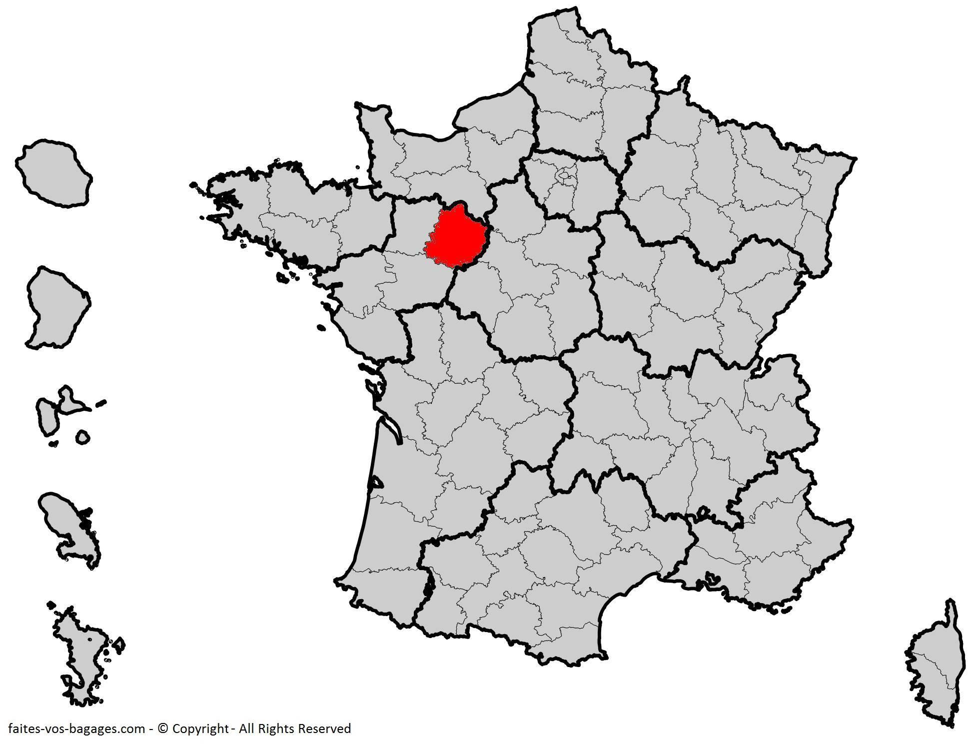 Où se trouve la Sarthe ? Département 72