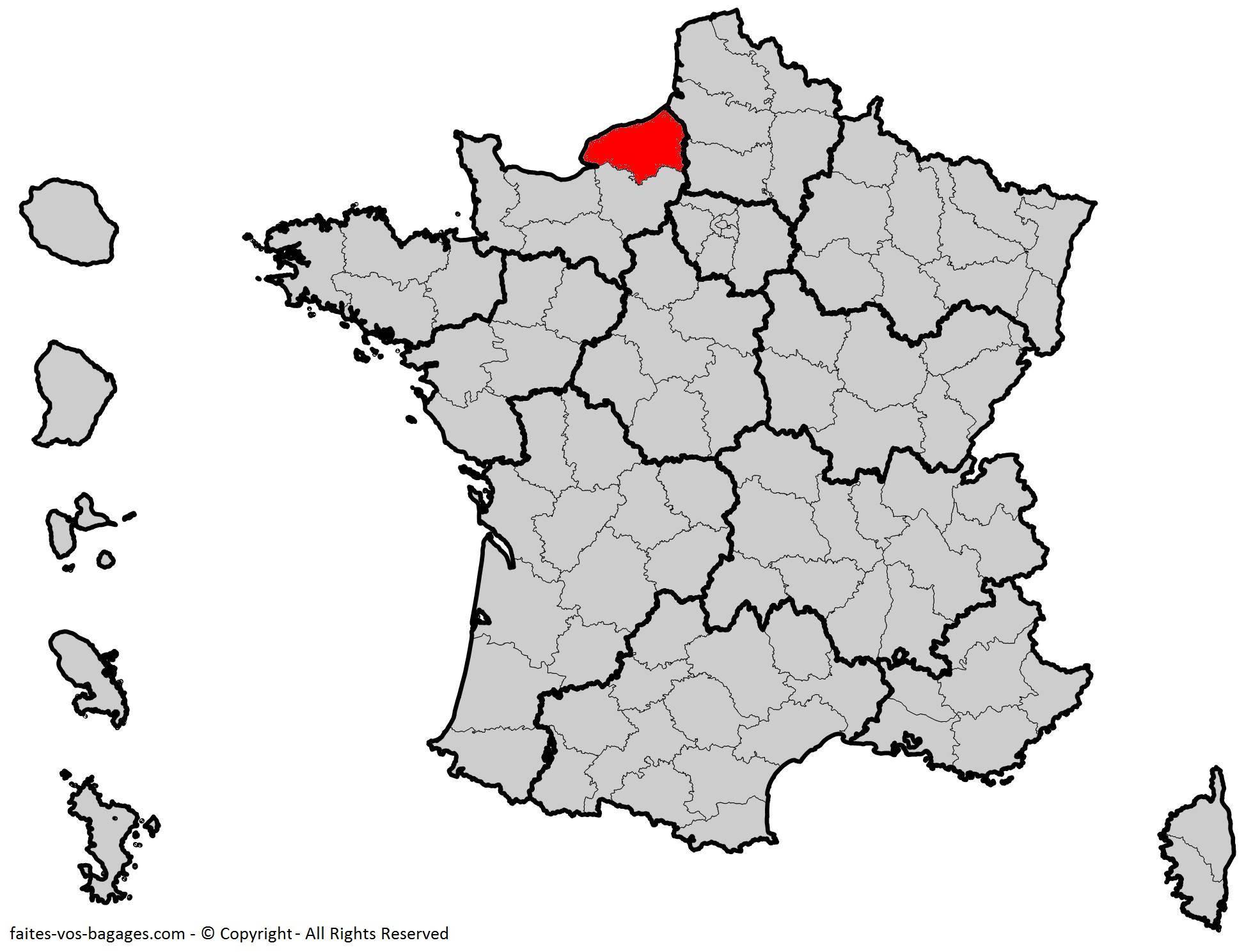 Où se trouve la Seine-Maritime en France ? Département 76