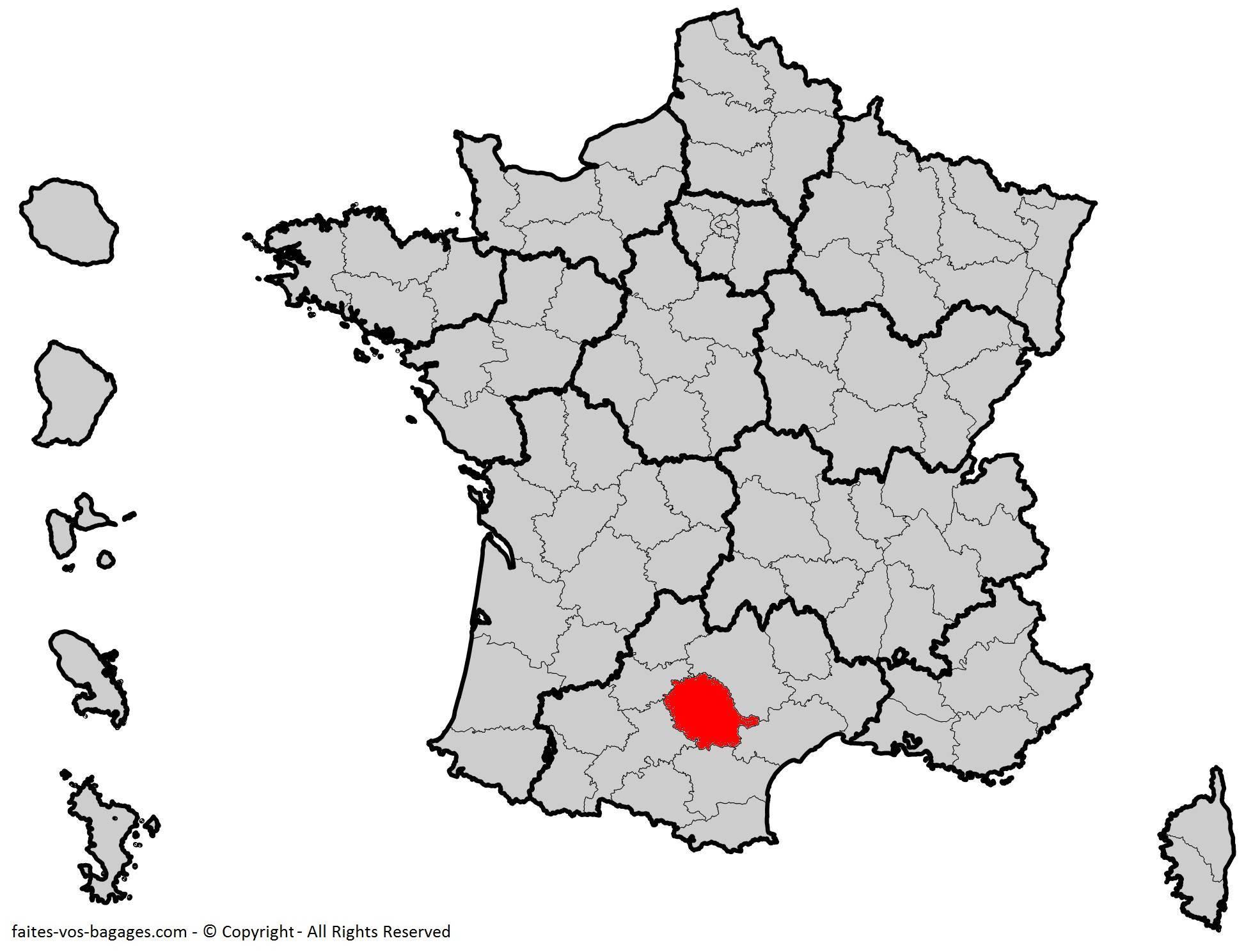 Où se trouve le Tarn en France ? Département 81